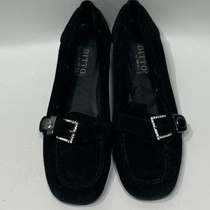 Ditto by Van Eli Black Suede loafers womens 7.5